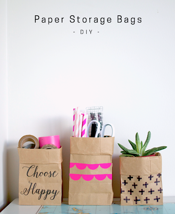 DIY Paper Storage Bags   Not Washable   By Patchwork Cactus Blog