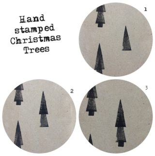 DIY rubber stamps for wrapping paper, cards and gift tags