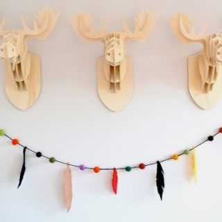 DIY felt feather garland