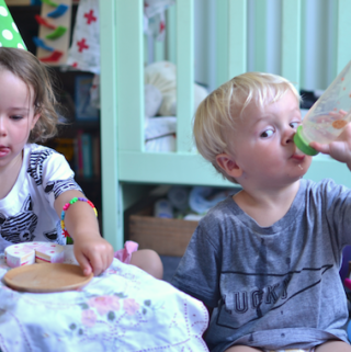 A midweek toy party – keeping sane with young kids at home