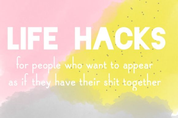 Life Hacks for people who want to apper as if they have their life together. - patchwork cactus