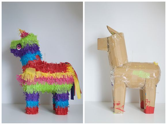 DIY Unicorn Pinata - it used to be a donkey