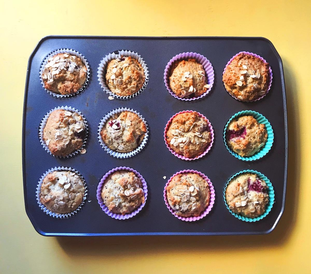 Raspberry and Chia Seed Muffin Recipe