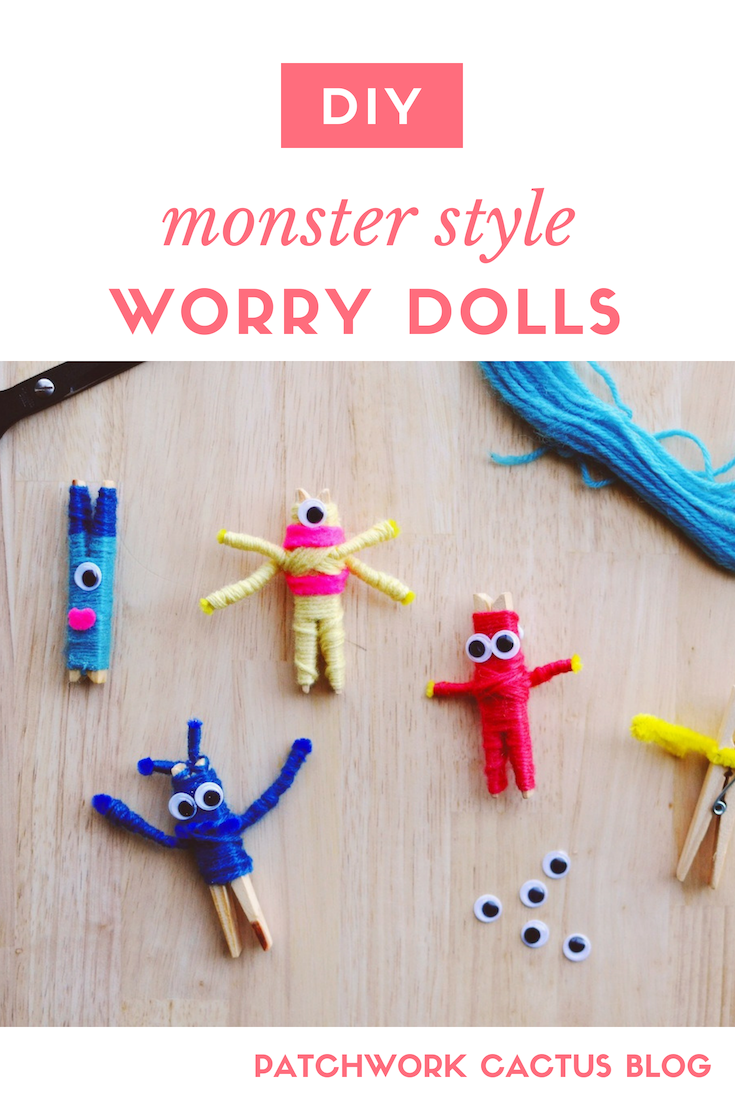 DIY WORRY DOLLS - HALLOWEEN CRAFT