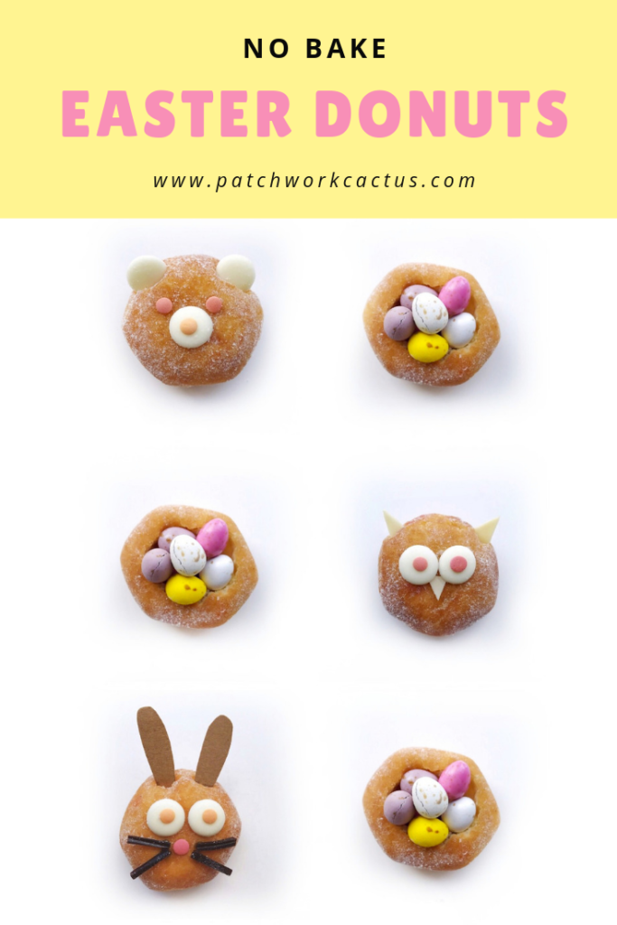 No bake Easter Donuts - Patchwork Cactus Blog